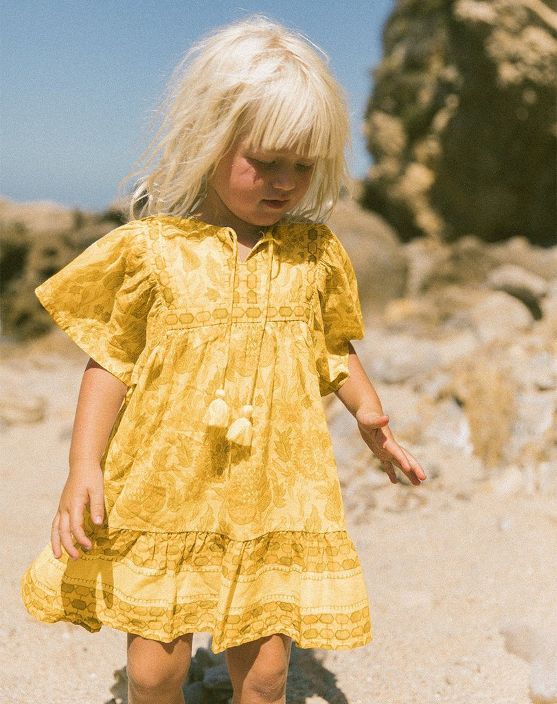 MAGDALENA DRESS TURMERIC Dresses Cleobella Littles