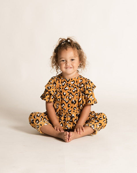 MICHELE TOP YELLOW LEOPARD Tops Cleobella Littles