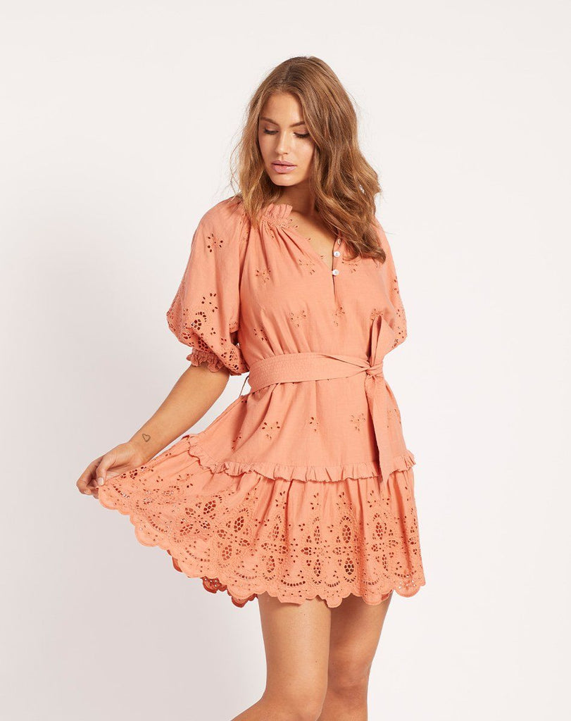 NEVAH MINI DRESS SUNSET Dresses Cleobella