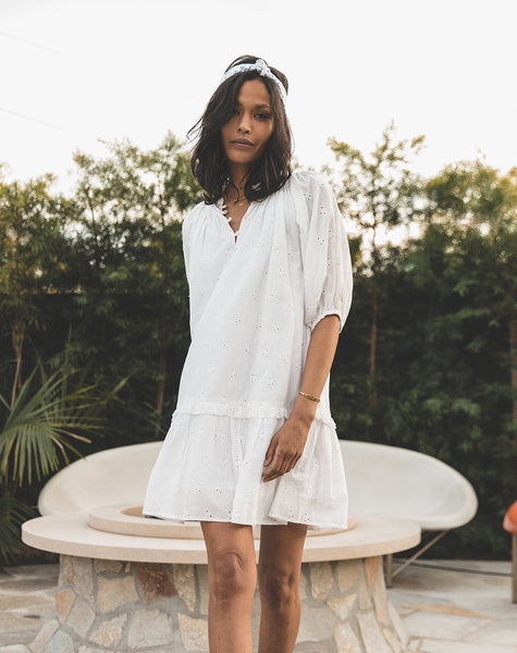 Nevah Mini Dress | White Dresses Cleobella