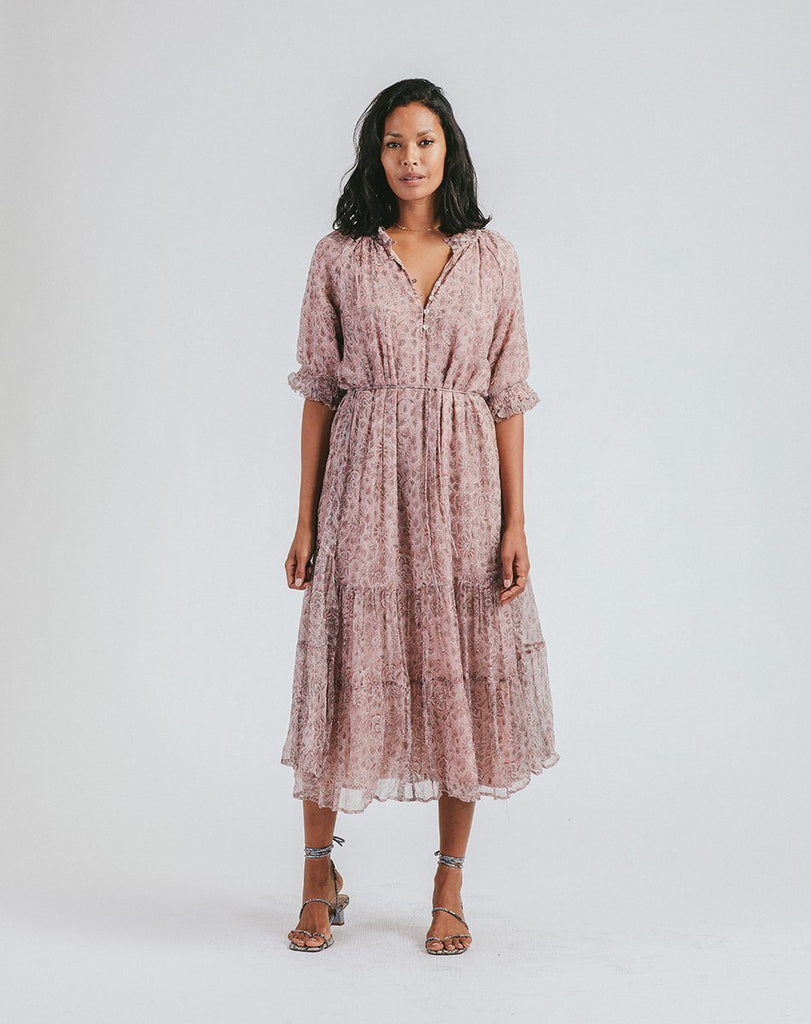 Piper Midi Dress | Meadows Block Dresses Cleobella