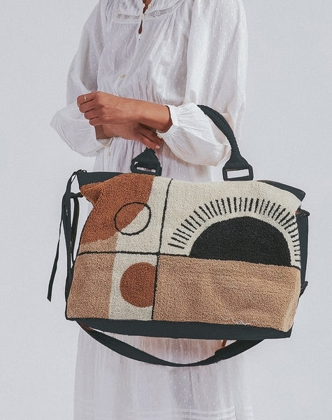 Rising Glow Weekender Weekenders, weekender bag, abstract bag, carpet bag