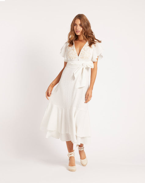 SUMMER MIDI DRESS WHITE Dresses Cleobella