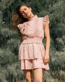 Versailles Mini Dress Pink Dresses Cleobella