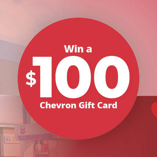 Win a $100 Gas Card this Valentine's Day