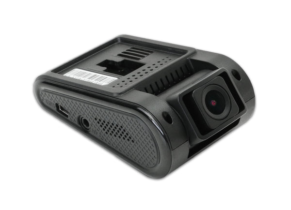 VIOFO A119 V2 dash cam. It's black and wedge shaped