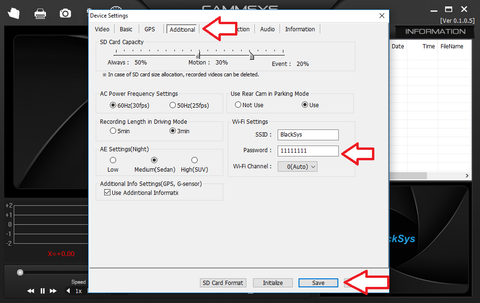 BlackSys Additional Settings