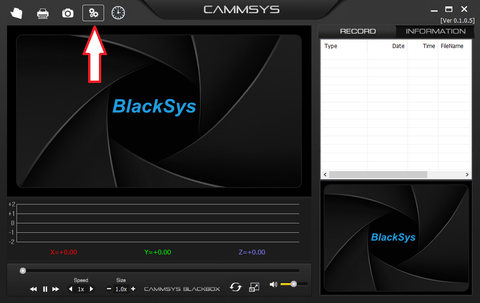 Settings Menu BlackSys