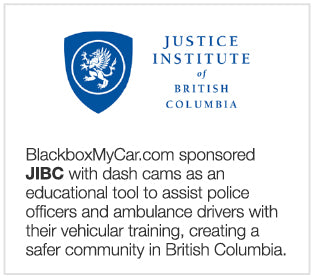 BlackboxMyCar.com sponsored the Justice Institute of British Columbia with dash cams as an educational tool to assist police officers and ambulance drivers with their vehicular training, creating a safer community in British Columbia
