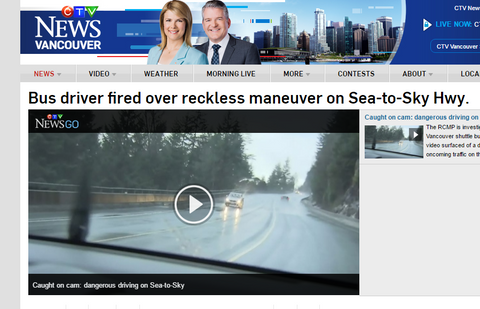 CTV News Sea to Sky Highway Dash cam