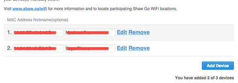 "Shaw Internet ""Devices"""