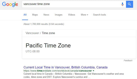 Time Zone Google