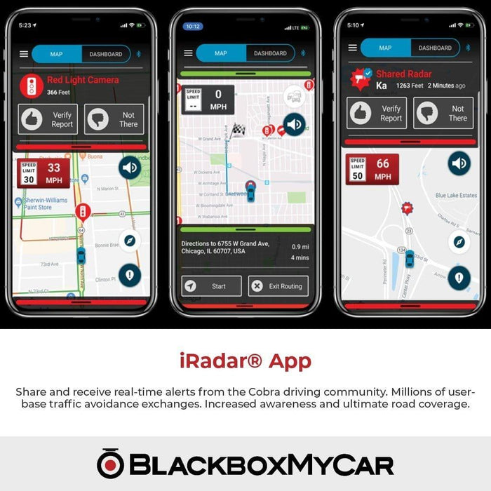 Connects to iRadar app Cobra DualPro 360/° Radar Detector w//Long Range Directional Alert Arrows /& Unmatched GPS Accuracy AutoLearn Technology to Eliminate False Alerts Front /& Rear Advanced Sensors