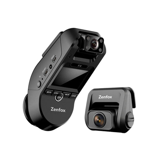 Zenfox Dash Cams Zenfox T3 3-Channel Dash Cam