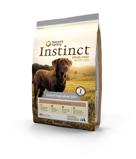 Nature's Variety Instinct Grain-Free  Limited Ingredients Diet Turkey Meal Formula for Dogs  20 lbs. bag - Naturally Urban Pet Food Shipping