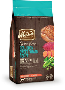 Merrick Grain-Free Real Duck and Sweet Potato  25 lbs. bag - Naturally Urban Pet Food Shipping