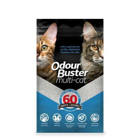 Odour Buster Multi- Cat Litter  12kg (Min 2 bag purchase or with another item) - Naturally Urban Pet Food Shipping