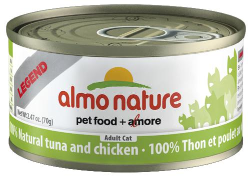 Almo Nature 100% Natural Tuna with Chicken 24 x 70g - Naturally Urban Pet Food Shipping