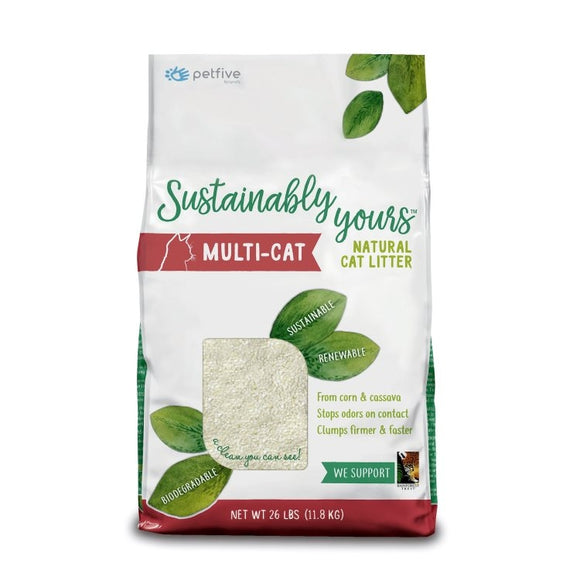Sustainably Yours Multi Cat Litter 26 Lbs