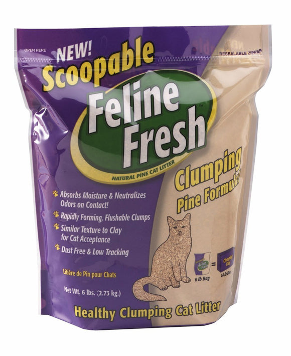 Feline Fresh Natural Pine Cat Litter - Clumping 34 lbs. bag - Naturally Urban Pet Food Shipping