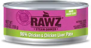 RAWZ Cat 96% Chicken & Chicken Liver 24/156g - Pet Food Online by Naturally Urban