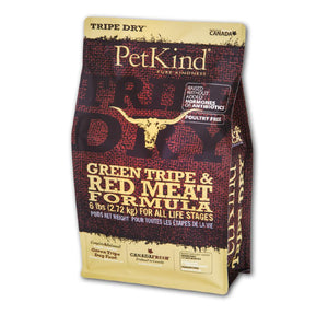 Petkind Tripe Dry Green Tripe and Red Meat Formula 25 lb bag - Naturally Urban Pet Food Shipping