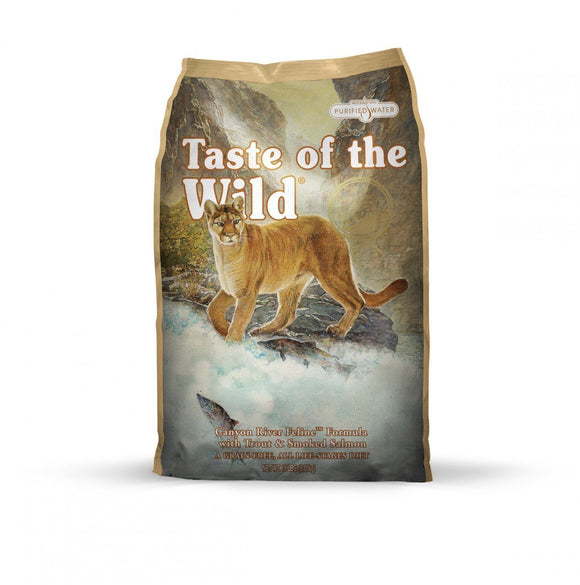 Taste of the Wild Canyon River Feline Formula with Trout & Smoked Salmon  15 lbs. bag - Naturally Urban Pet Food Shipping