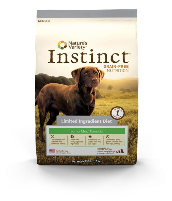 Nature's Variety Instinct Grain-Free   Limited Ingredients Diet Lamb Meal Formula for Dogs  20 lbs. bag - Naturally Urban Pet Food Shipping