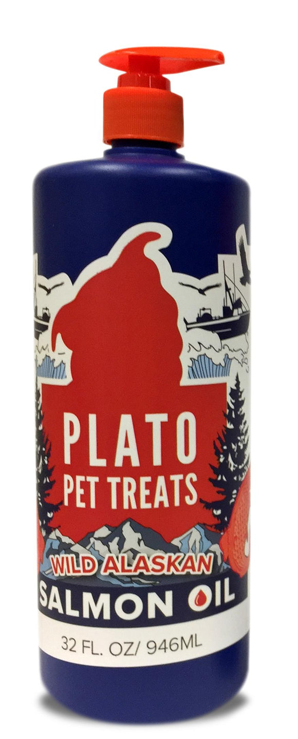 Plato Wild Alaskan Salmon Oil 32 oz.-Plato-Pet Food Online by Naturally Urban