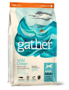 Gather Wild Ocean - Line-caught Cod recipe for Adult Dogs  16 lbs. - Naturally Urban Pet Food Shipping