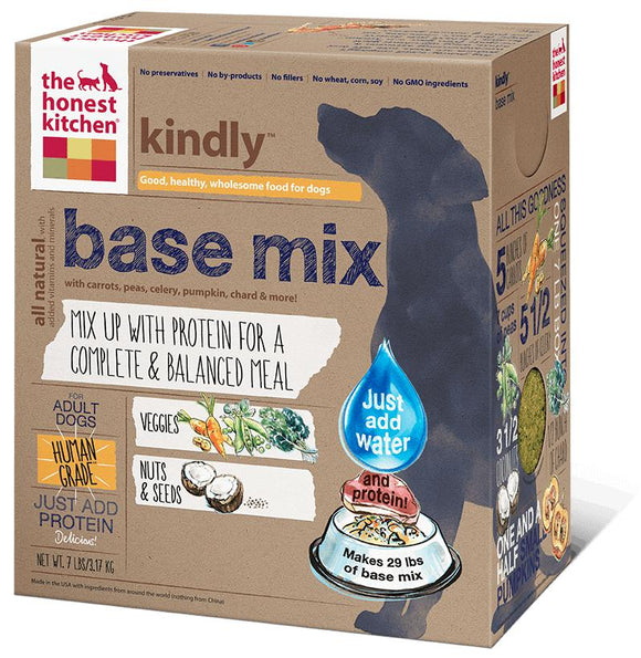 Honest Kitchen Dehydrated - Grain Free Veggie, Nut & Seed Base Mix for Dogs 7 lbs. - Naturally Urban Pet Food Shipping