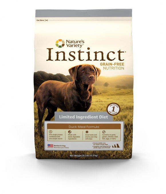 Nature's Variety Instinct Grain-Free  Limited Ingredients Diet Duck Meal Formula for Dogs  20 lbs. bag - Naturally Urban Pet Food Shipping