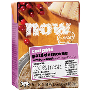 Now Fresh Cod Pate with Bone Broth Gravy 24 x 6.4 oz tetra packs