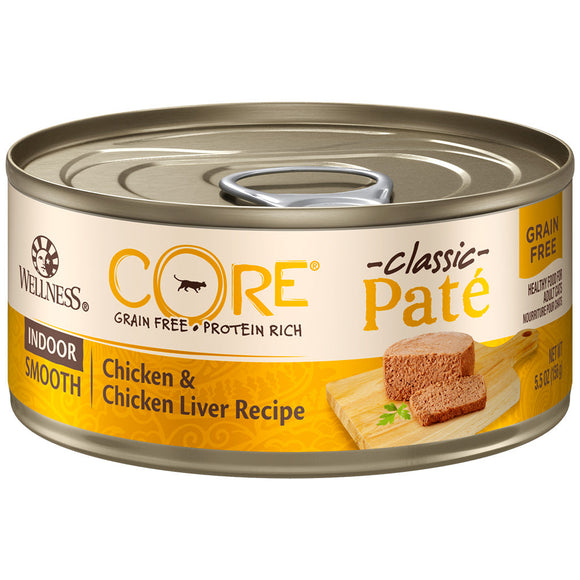 Wellness Core Pate Indoor Chicken & Liver 24/5.5OZ | Cat - Pet Food Online by Naturally Urban