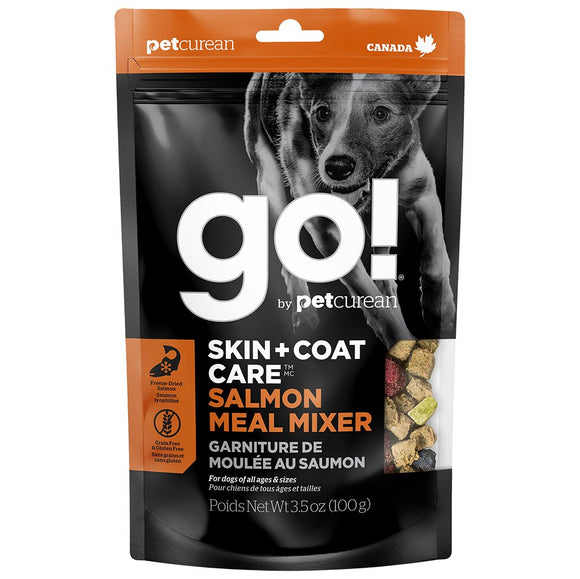 GO! Solutions Meal Mixers SKIN + COAT Salmon 3.5OZ/12 - Naturally Urban Pet Food Shipping