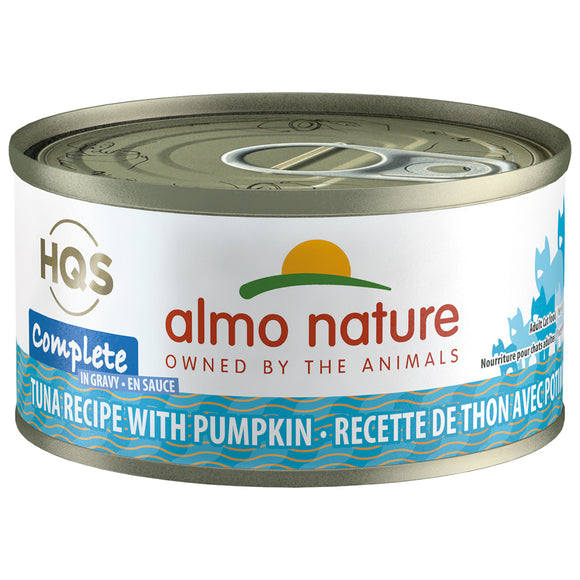 Almo Nature Complete HQS Tuna and Pumpkin Recipe Gravy 24 x 70 gram cans