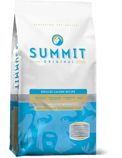 Summit - Three Meat Reduced Calorie Dog Food Recipe 28 lbs. - Pet Food Online by Naturally Urban