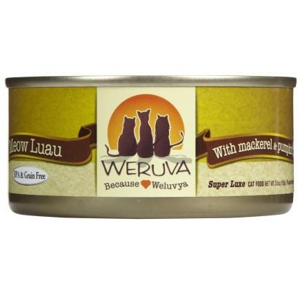 Weruva Meow Luau – With Mackerel and Pumpkin 24 x 5oz Cans - Naturally Urban Pet Food Shipping