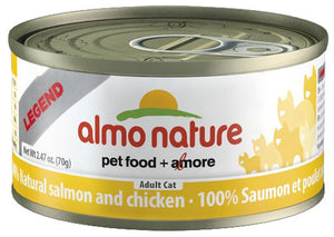 Almo Nature 100% Natural Salmon with Chicken 24 x 70g - Pet Food Online by Naturally Urban