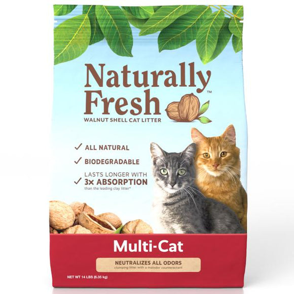 Naturally Fresh MulitCat Clumping Formula non scented 26 lbs. - Pet Food Online by Naturally Urban