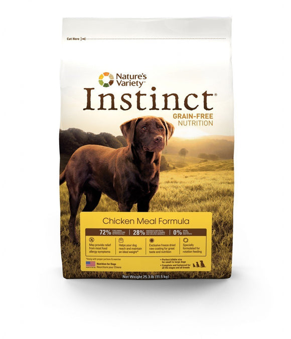 Nature's Variety Instinct grain-free  Chicken Meal Formula for Dogs  22.5 lbs. bag - Pet Food Online by Naturally Urban