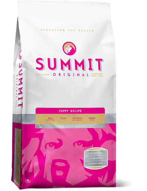 Summit - Three Meat Puppy Dog Food Recipe 28 lbs. - Pet Food Online by Naturally Urban
