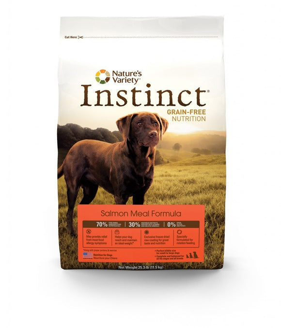 Nature's Variety Instinct Grain-Free Salmon Meal Formula for Dogs 20 lbs. bag-Nature's Variety-Pet Food Online by Naturally Urban