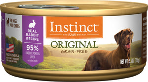 Instinct® Original Real Rabbit Recipe for dogs small cans 12 x 5.5 oz