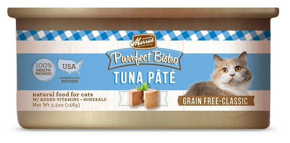 Merrick Purrfect Bistro Grain-Free Tuna Pâté 24 x 5.5 oz. cans - Naturally Urban Pet Food Shipping