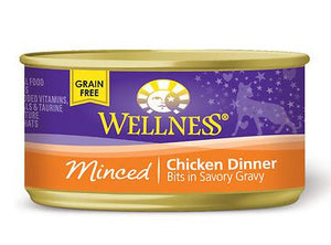 Wellness Minced Chicken Entree 24 x 5.5 oz. cans - Naturally Urban Pet Food Shipping