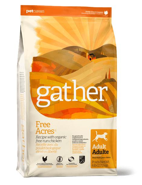 Gather Free Acres - Organic Free-run Chicken recipe for Adult Dogs  16 lbs. - Naturally Urban Pet Food Shipping