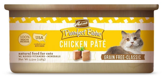 Merrick Purrfect Bistro Grain-Free Chicken Pâté 24 x 5.5 oz. cans - Naturally Urban Pet Food Shipping