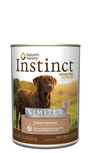 Nature's Variety  Instinct® Limited Ingredient Canned Dog Food - Turkey 6 x 13.2 oz cans - Naturally Urban Pet Food Shipping