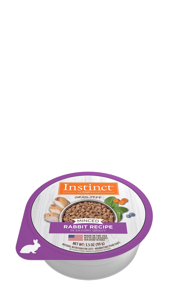 Nature's Variety Instinct Minced Rabbit Recipe for cats 12 x 99 gram packs